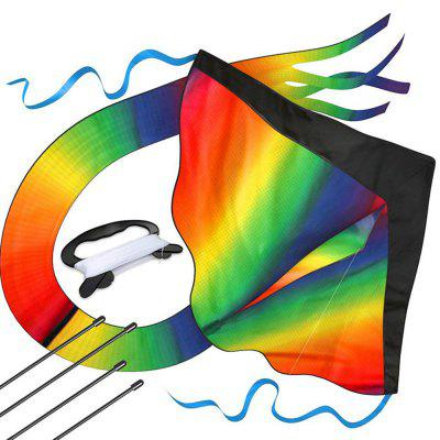 Huge Kite Blackhead Gradient Rainbow Triangle Long Tail