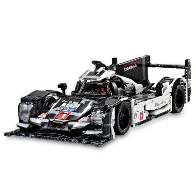 CaDA Stylish Racing Model Assembling Take Apart Simulated 919 Sports Car 1586pcs Building Blocks  V4 Engine 3-Gear Function Educational Toys for Kids Teens Adults DIY Project