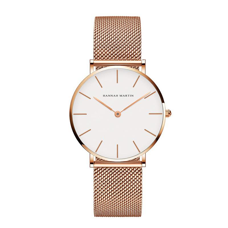 Fashion Furnace Gold Plating Waterproof Women Steel Wrist Watch