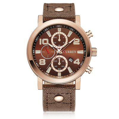 CURREN 8199 Canvas quartzhorloge voor heren