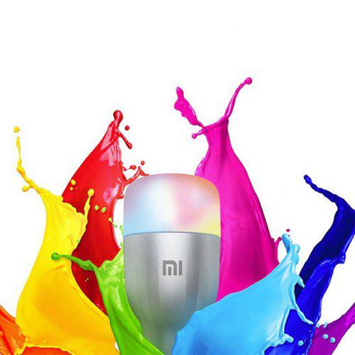 Gearbest Yeelight MJDP02YL 10W RGB E27 220 - 240V LED Smart Bulb ( Xiaomi Ecosystem Product ) - Platinum 16 Million Colors 1700 - 6500K WiFi Enabled Work with Amazon Alexa Mijia Support Google Home