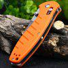 GANZO G738 - OR Outdoor Folding Sharp Locking Knife - ORANGE