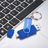 Maikou USB3.0 + Micro USB Rotary Flash Drive Support OTG - BLUE