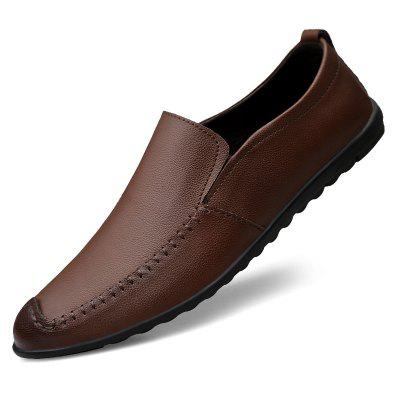 Men's Leather Casual Shoes Solid Color