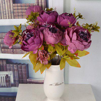 European Peony Artificial Bouquet Home Decration