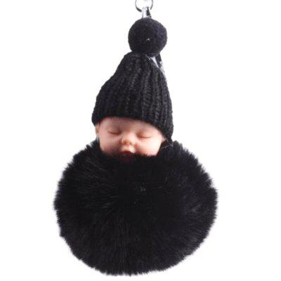 Cartoon Sleeping Cute Doll Hair Ball Bag Key Chain