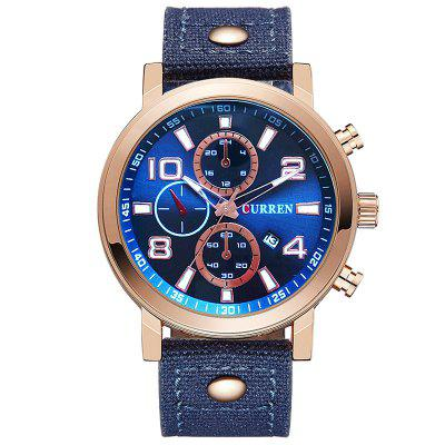 CURREN 8199 Men  's Sports Quartz Relogio Banda Lona