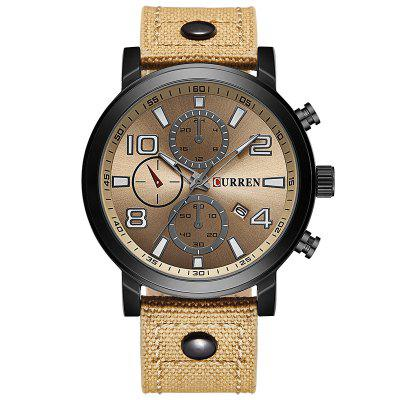 CURREN 8199 Men's Sports Quartz Watch Canvas Band
