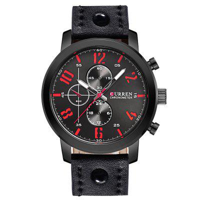$9.99 per Curren 8192 Men's Sports Leather Band Quartz Watch Military Style