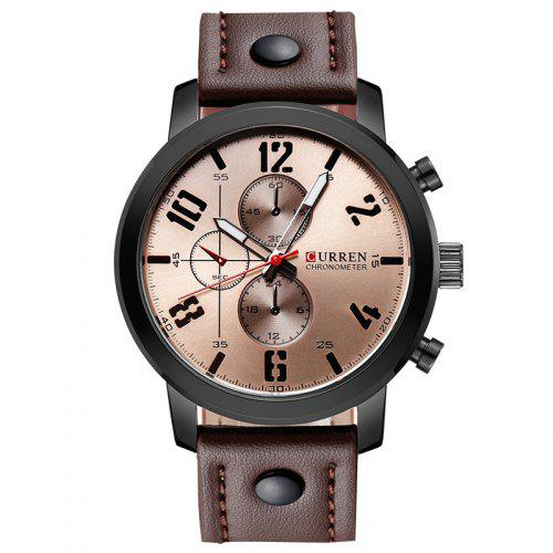 Curren 8192 Men's Sports Leather Band Quartz Watch Military Style