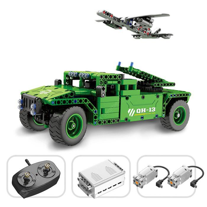 QH - 8013 2.4G Assembled RC Drone Military Model Toy - Green
