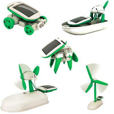 6 w 1 Solar Toy Set Kids Puzzle Self-loading Outdoor Toy