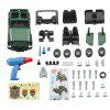 PD55 - 20 Electric Drill Truck DIY Assembled Toy - DEEP GREEN