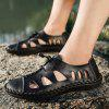 Men's Summer Breathable Sandals Holes Design - BLACK