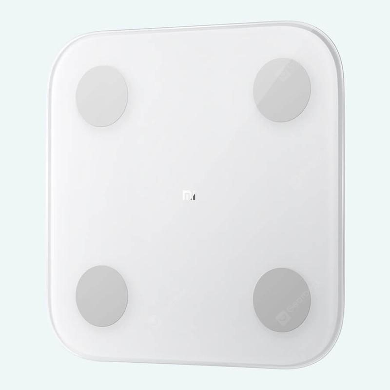 Smart Body Composition Scale 13 Precise Data Points Ultra Thin Body Scales from Xiaomi youpin - White without Battery