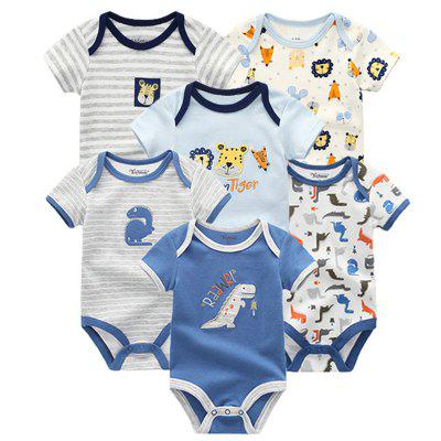 FETCHMOUS BDS6 Baby Short Sleeve Rompers 6PCS