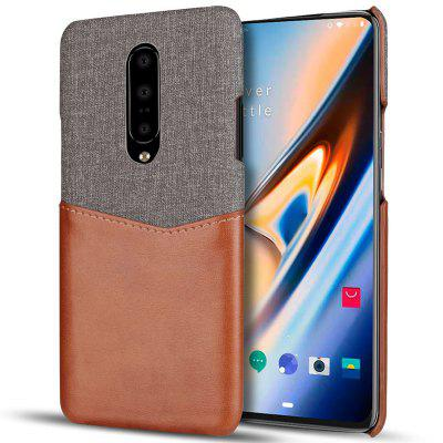 Leather Cloth Back Cover for OnePlus 7
