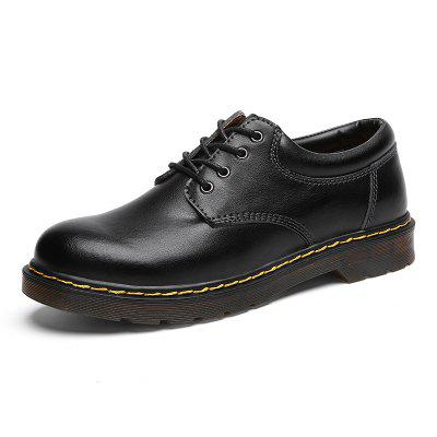 Men's Business Non-slip Leather Casual Shoes Durable Lace-up