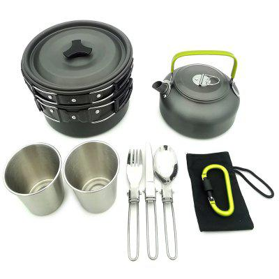 Outdoor Camping Portable Foldable Pot Set