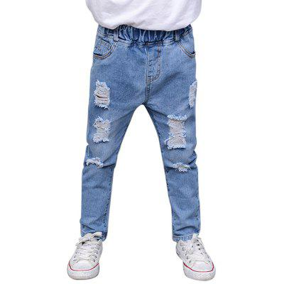 Boy Hollow out Jeans Denim Casual Outdoor Pants