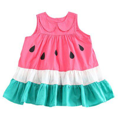 Girl Loose Cute Watermelon Princess Dress