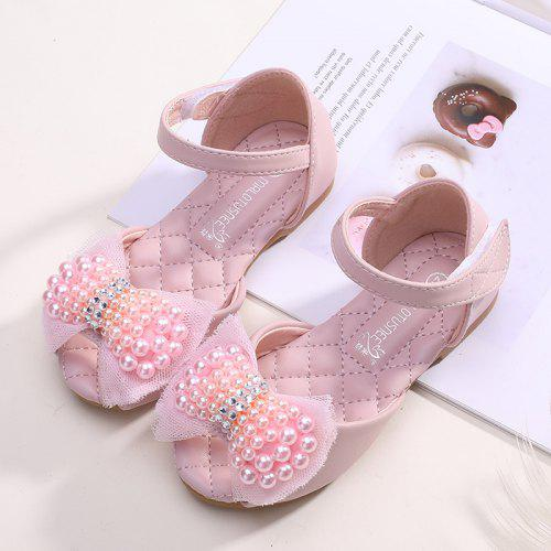 New Bebe Girls Sandals with pearl beams size 1