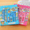 10 in 1 Cartoon Kawaii Stationery Set Ballpoint Pen Pencil - LIGHT SKY BLUE