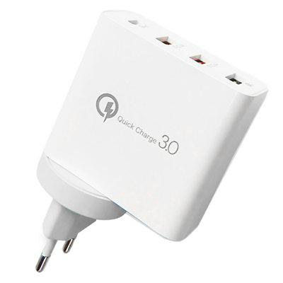 QC3.0 3USB + Type-c US / EU高速充電器