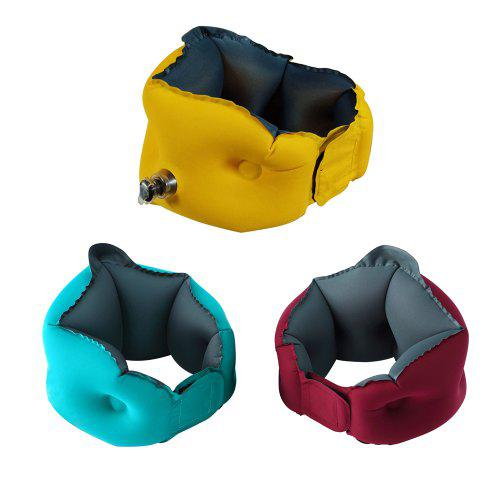 Gearbest Tecney w2 Inflatable Colorful Neck Pillow 1pc