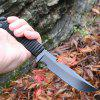 MH150 Lightweight Sharp Steel Fixed Blades Knives - BLACK