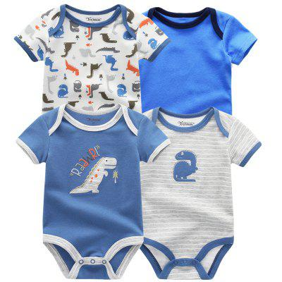 FETCHMOUS Baby Cartoon Fashion Rompers 4 unids