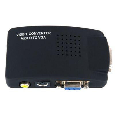AV a VGA Splitter HD Convertidor de video Set Top Box a adaptador de computadora