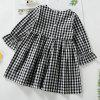 3301 Summer Plaid Dress for Girls - BLACK