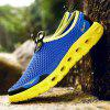 Men's Hollow-out River Tracing Casual Shoes Slip-on - BLUE