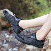 Men's Mesh Fabric Breathable Casual Shoes Durable - BLACK
