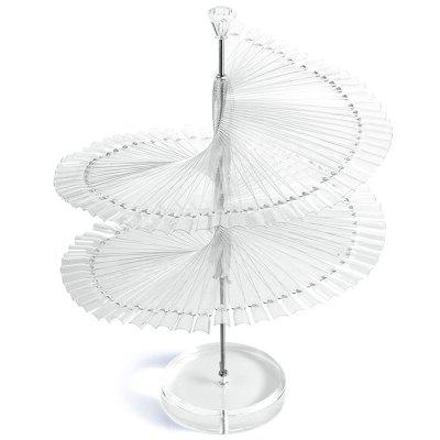 Modelo Board Transparent Spiral 120 piezas Nail Display Stand