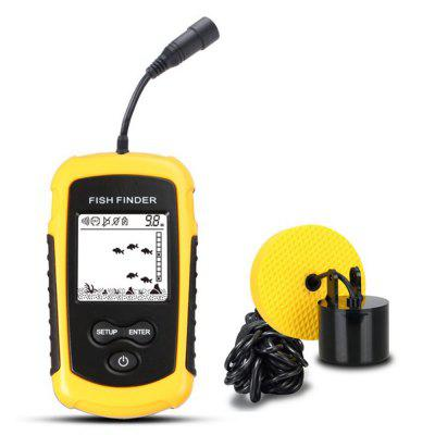 Portable Sonar Alarm Ultrasonic Sounder Fishing Transducer with LCD Display