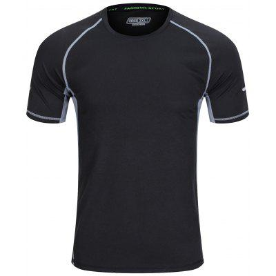 T-shirt dos homens de Fitness Sports Quick Dry manga curta