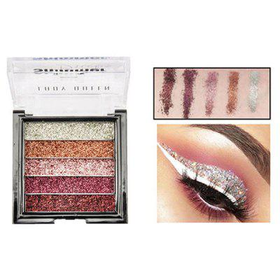 ME0061 5 Color Beauty Waterproof Long-lasting Natural Glitter Stage Makeup Eye Shadow Tray