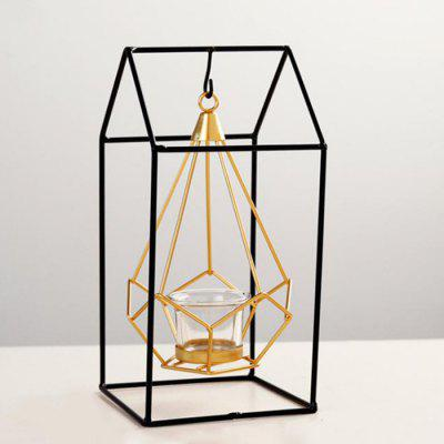 Geometric Wrought Home Candle Holder Decoration