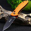 GANZO G7393P Outdoor Portable Folding Knife - ORANGE
