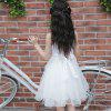 2 - 5 Girls Fashion Trend Bright Diamond Dress - WHITE