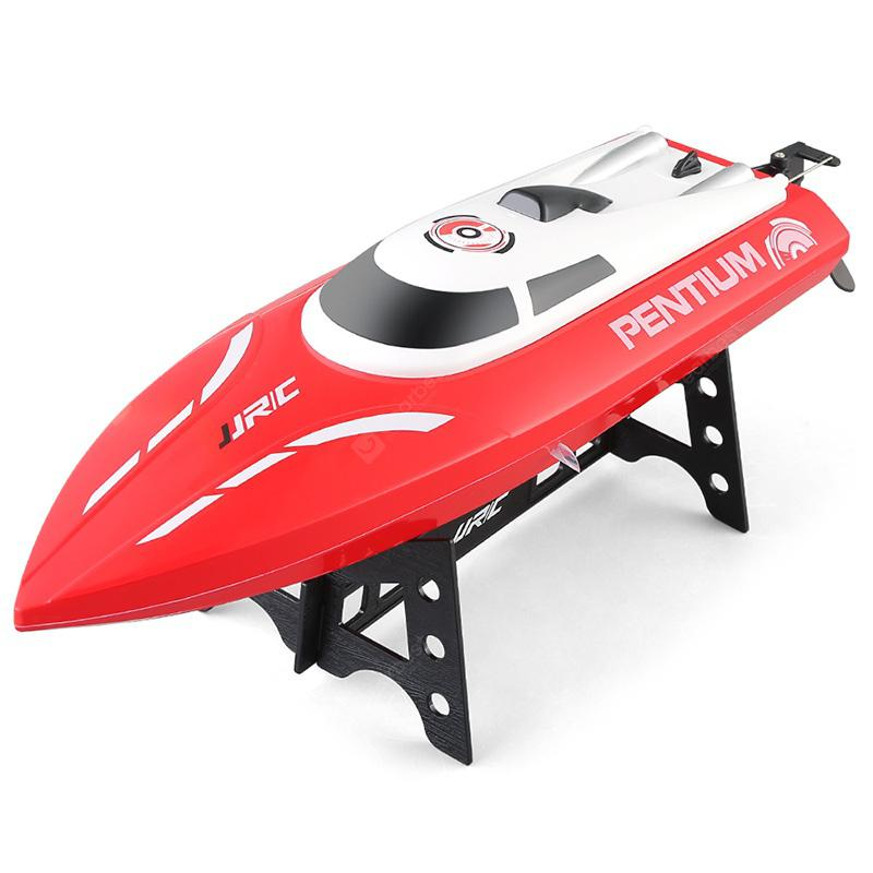 JJRC S1 Waterproof Turnover Reset Water Cooling RC Boat - Red with Two Batteries