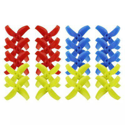 LDARC Multi-colored 4 Blade Paddle 10 pares