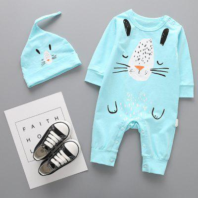 Baby Cartoon Imprimir Romper + Cap