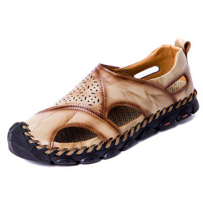 Men's Leather Breathable Sandals Soft for Summer