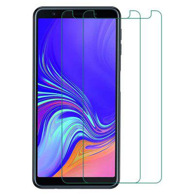 QULLOO 2.5D 9H Full Tempered Glass Protective Film for Samsung Galaxy A7 2018 2pcs