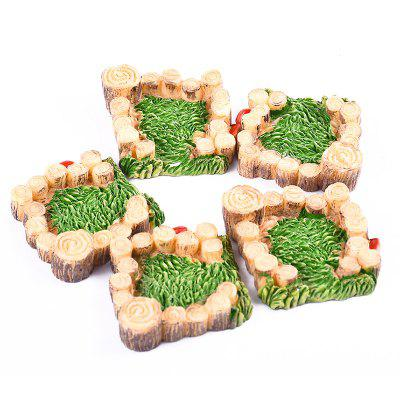 12WJG00284 - 3 Wooden Pile Grass Model Home Decoration 5pcs