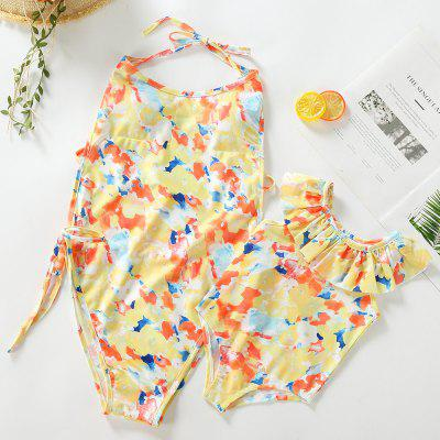 3302 Print One-piece Swimsuit Parent-child Clothing