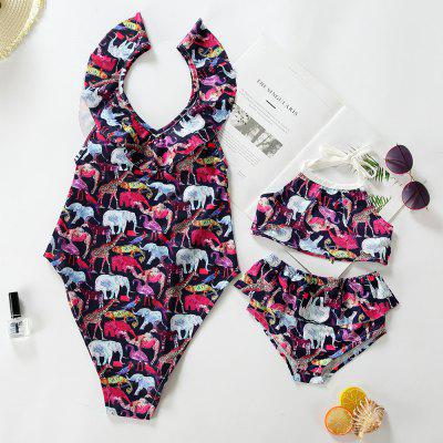 3308 Animal Print Parent-child Swimwear